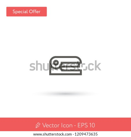 New Stapler vector icon. Modern, simple, isolated, flat best quality icon for web site designs or mobile apps. Vector illustration EPS 10.