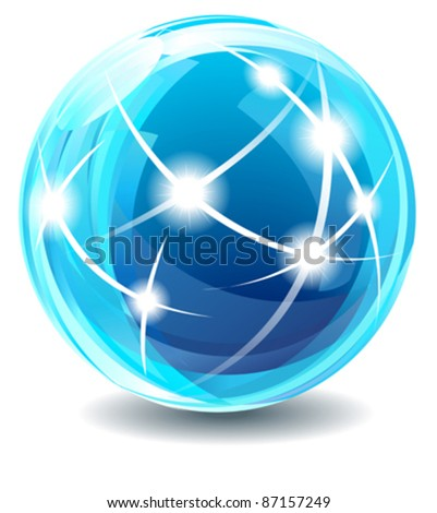 New Star Globe - Internet, communications concepts.