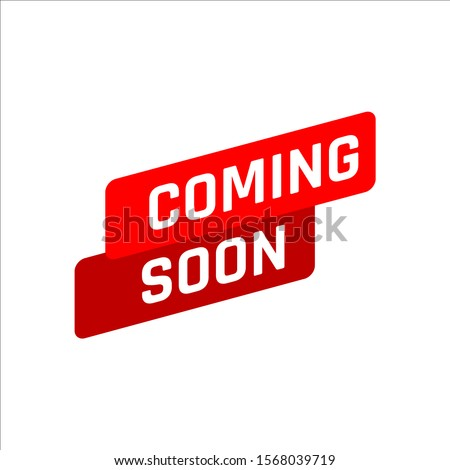 new stylish coming soon sign. an icon for website page site and offline banner. coming Soon stamp vector illustration.