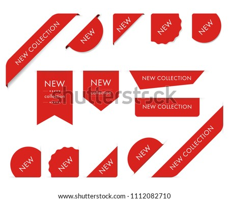 New tag ribbon and banner vector.