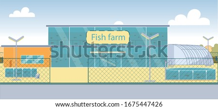 new technology fish farm with