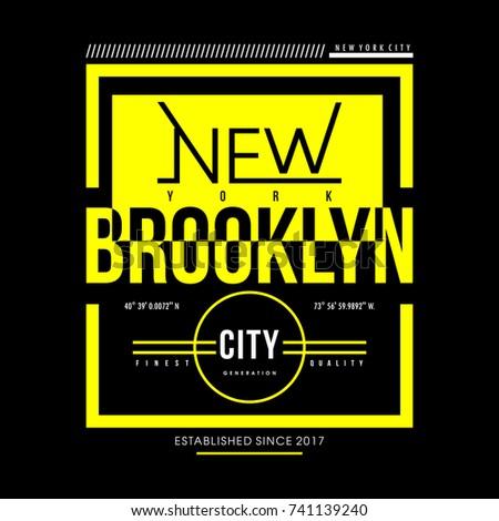 new typography urban t shirt design graphic vector illustration