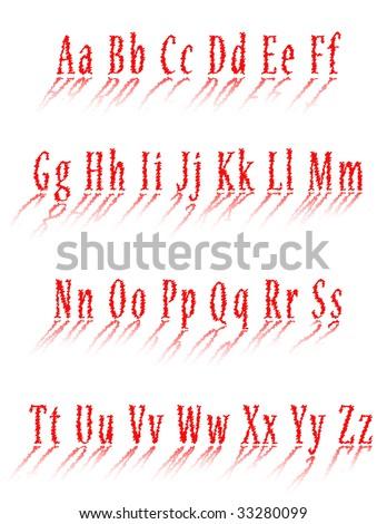 New uppercase English alphabet - stock vector