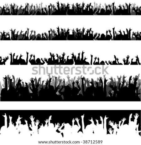 New vector audience - stock vector