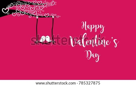 Valentine\'s Day Vector Love Birds | Free Vector Art at Vecteezy!