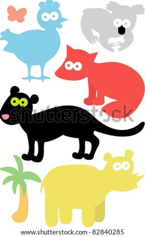 new vector set of animals 05