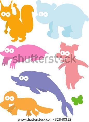 new vector set of animals 06