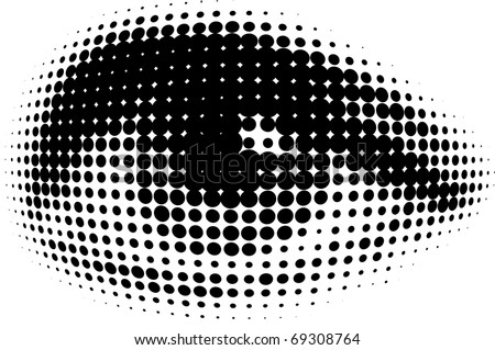 new vision of human eyes - stock vector