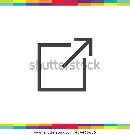 New window sign line vector icon. Open another tab button sign. Browser frame symbol