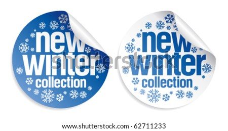 New winter collection stickers set