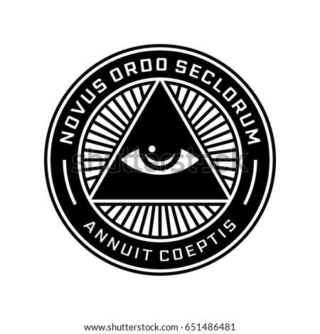 Shutterstock New World Order Emblem with All-Seeing Eye. Novus Ordo Seclorum