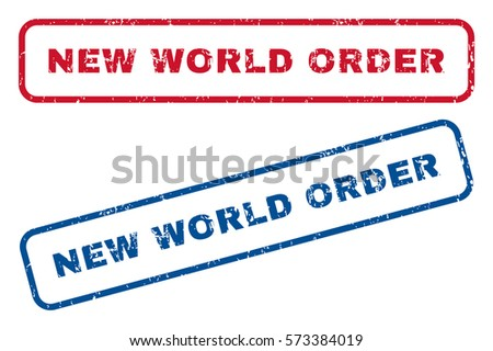 new world order text rubber