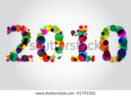 New Year 2010 - stock vector