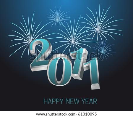 New year - 2011 - stock vector