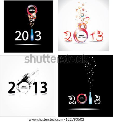 New year 2013 . Abstract posters