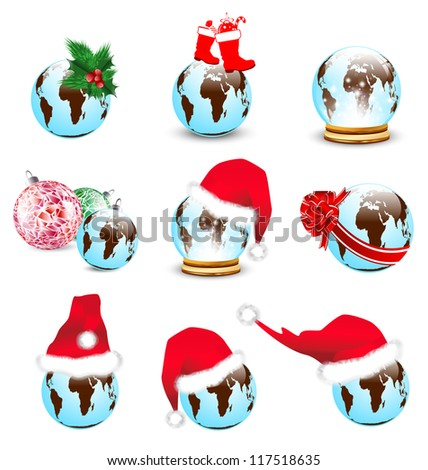 New Year and Christmas Earth Collection