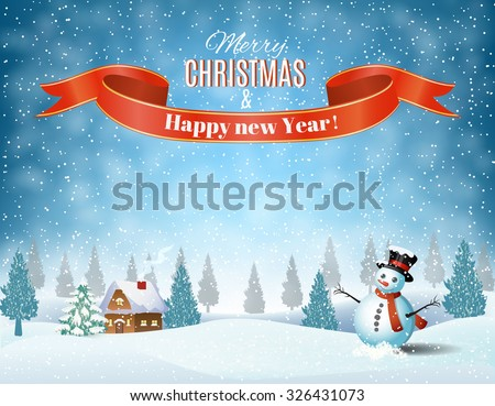 new year and christmas winter