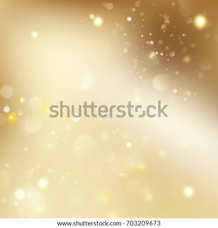 New year and Xmas gold dust. Christmas golden holiday glowing backdrop. And also includes EPS 10 vector