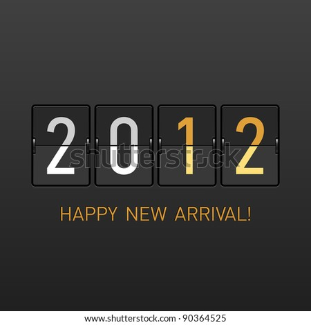 New Year arrival 2012. Vector.