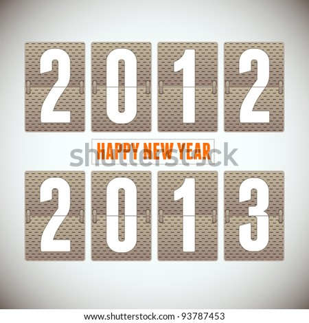 New Year arrival 2013. Vector Background.