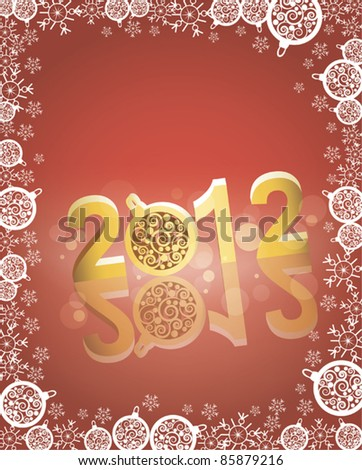 New Year 2012  background #85879216