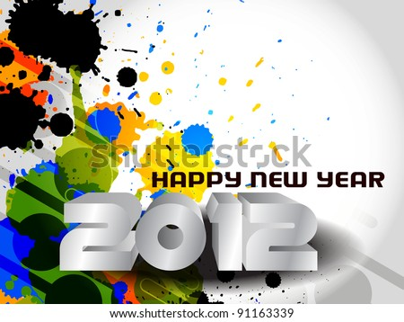 New year 2012 background.