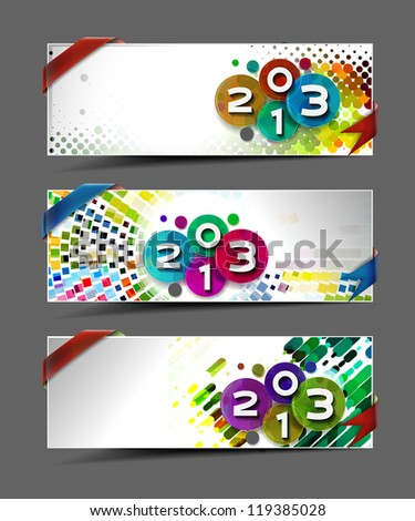 New year 2013 background for new year banner/header design.