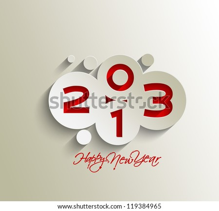 New year 2013 background for new year design