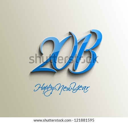 New year 2013 background for new year design.