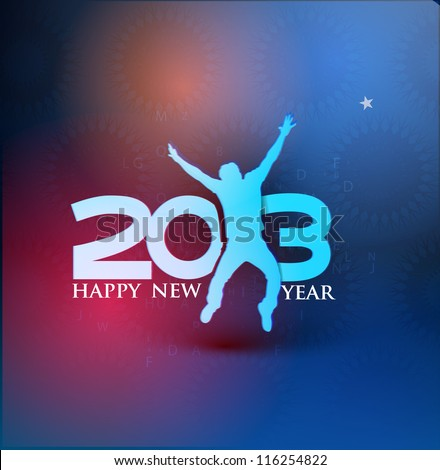 New year 2013 background for new year party poster design. - stock vector