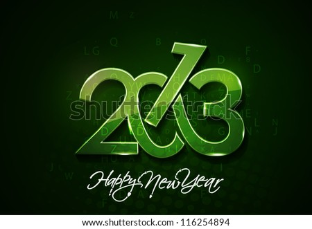 New year 2013 background for new year poster design. - stock vector