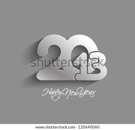 New year 2013 background for paper folding with letter design.