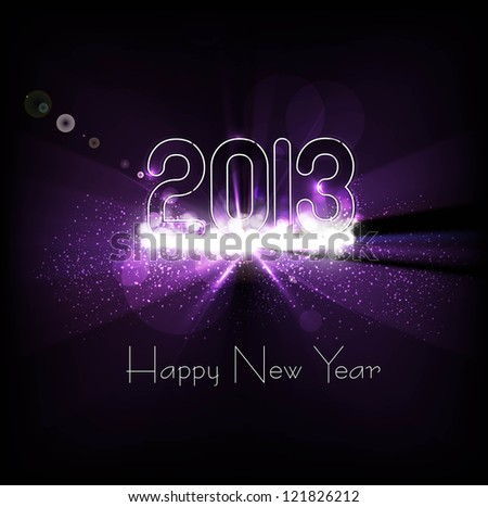 New year 2013 background for shiny swirl colorful wave background vector