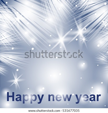 new year background silver snow shine for postcards wallpaper and decor