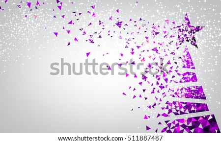 new year background with purple