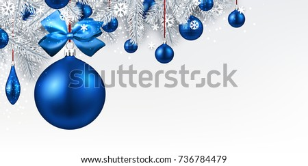 new year background with spruce