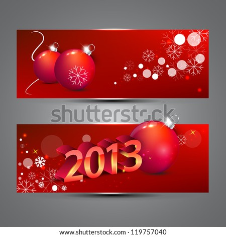 New year banners vector illustration