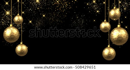 new year black background with