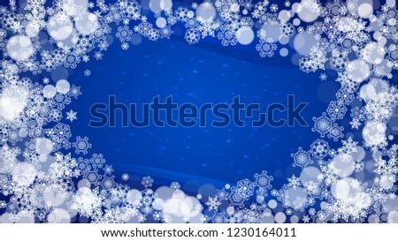 horizontal winter theme christmas and new year border