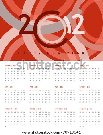 New year 2012 Calendar and conceptual banner for new year.