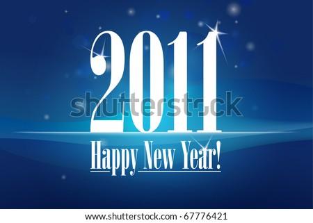 New Year card illustration | editable EPS 10 vector