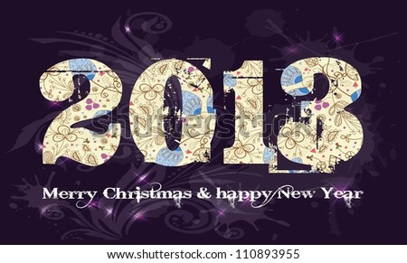 New year 2013, christmas, text