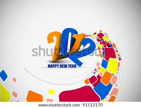 new year 2012 colorful mosaic background. Vector illustration