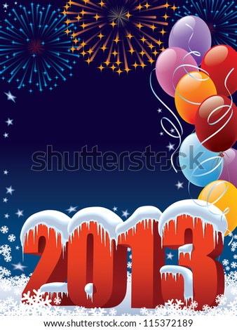 New Year 2013 decoration with copy space for your message
