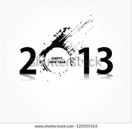 New year 2013 design - stock vector