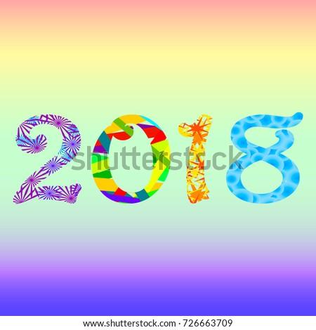 new year 2018 design christmas