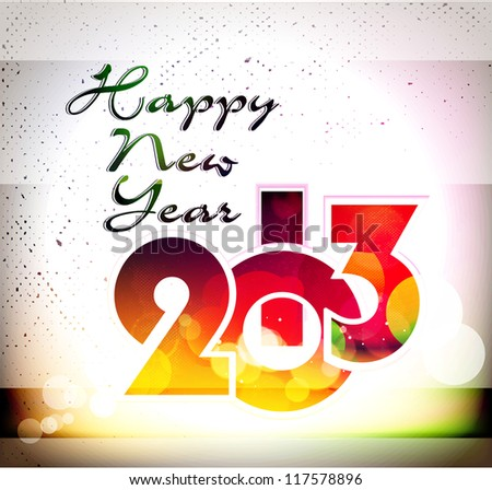 new year 2013 design/ greeting card, vector eps10