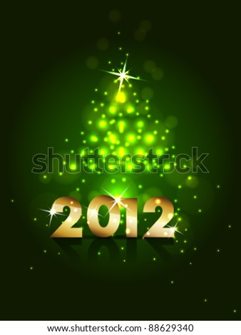 new year 2012 design vector