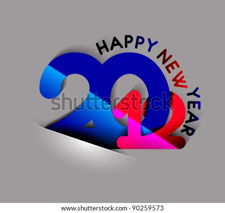 New year 2012 design. Vector illustration
