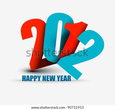 New year 2012  design. Vector illustration - stock vector
